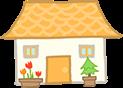 黄色屋根の平屋一戸建て