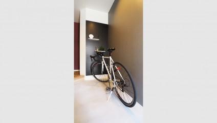 パールハイム元住吉102号室 リノベーション後 室内自転車置き場